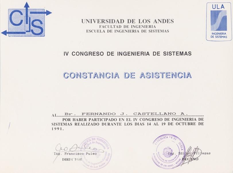 I congreso sistemas